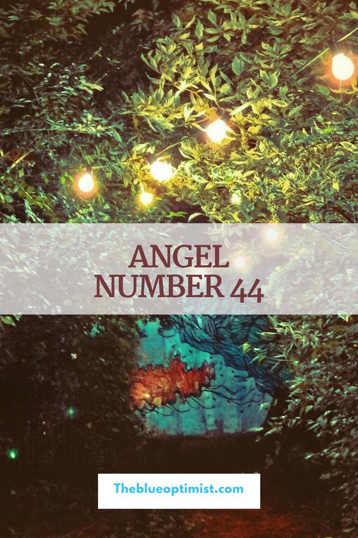 Angel Number 44- The Blue Optimist