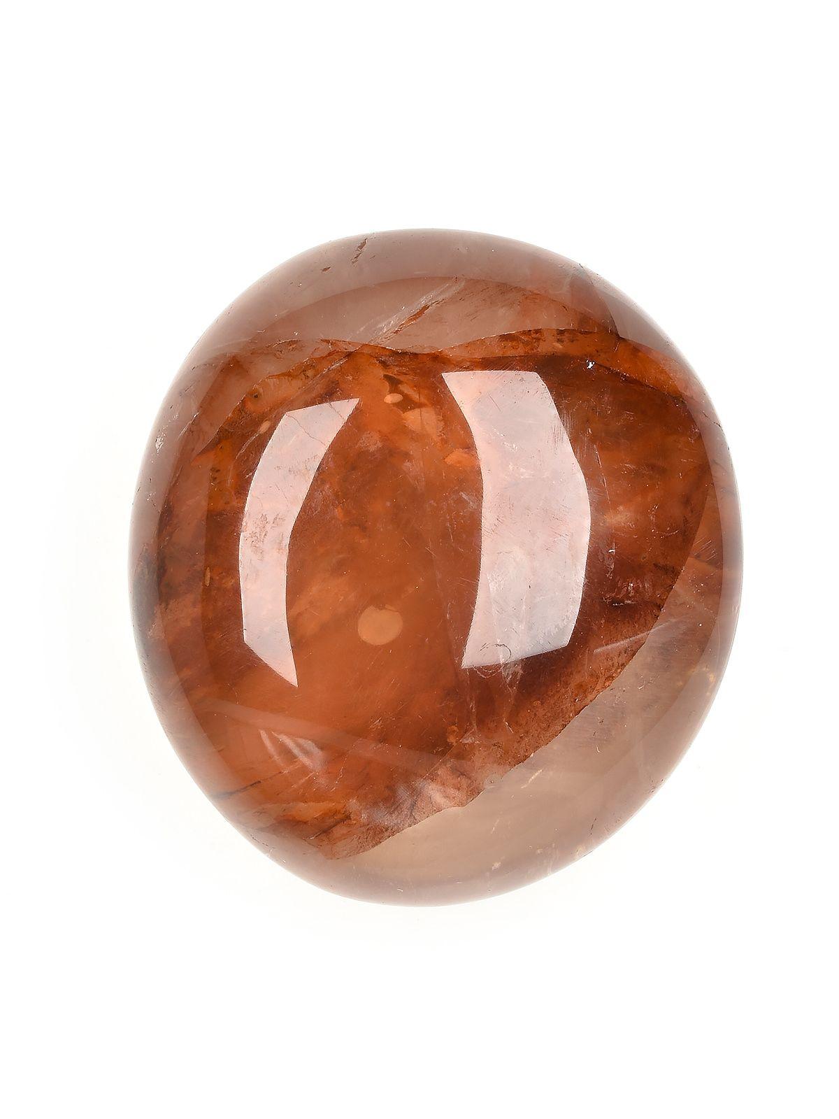 Red Hematite Quartz Palm Stone
